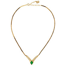 Buy Susan Caplan Vintage 1980s Christian Dior Gold Plated Swarovski Crystal Necklace Online at johnlewis.com