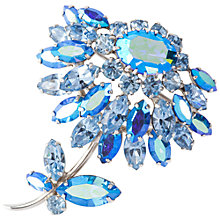 Buy Susan Caplan Vintage 1950s Sherman Swarovski Crystal Flower Brooch Online at johnlewis.com