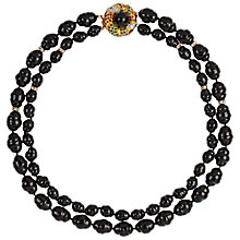 Buy Susan Caplan Vintage 1980s Valentino Jet Beads Double Strand Necklace Online at johnlewis.com