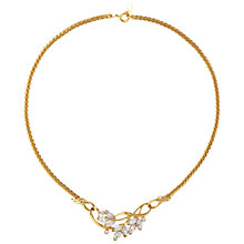 Buy Susan Caplan Vintage 1970s Trifari Gold Plated Swarovski Crystal Floral Necklace Online at johnlewis.com