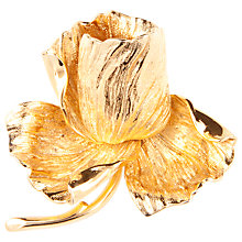 Buy Susan Caplan Vintage 1960s Grosse Gold Plated Rose Brooch Online at johnlewis.com