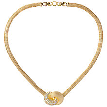 Buy Susan Caplan Vintage 1980s Christian Dior Gold Plated Love Knot Necklace Online at johnlewis.com