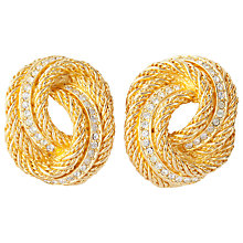 Buy Susan Caplan Vintage 1960s Christian Dior Gold Plated Rope Knot Clip-On Earrings Online at johnlewis.com
