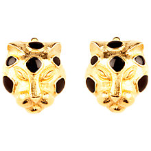 Buy Susan Caplan Vintage 1970s Trifari Gold Plated Leopard Head Clip-On Earrings Online at johnlewis.com