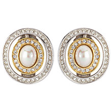 Buy Susan Caplan Vintage 1960s Grosse Faux Pearl Clip-On Earrings Online at johnlewis.com