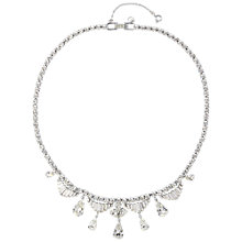 Buy Susan Caplan Vintage 1960s Silver Toned Crystal Drop Pendant Necklace Online at johnlewis.com