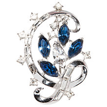 Buy Susan Caplan Vintage 1950s Trifari Silver Plated Swarovski Crystal Brooch Online at johnlewis.com