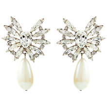 Buy Susan Caplan Vintage Bridal 1980s Silver Toned Faux Pearl Clip-On Earrings Online at johnlewis.com