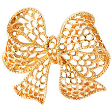 Buy Susan Caplan Vintage 1960s Napier Gold Plated Bow Brooch Online at johnlewis.com