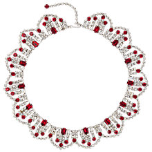 Buy Susan Caplan Vintage 1970s Edwardian Silver Toned Crystal Necklace Online at johnlewis.com