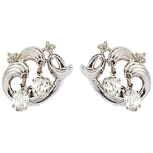 Buy Susan Caplan Vintage 1950s Trifari Silver Plated Swarovski Crystal Drop Clip-On Earrings Online at johnlewis.com