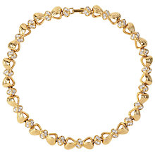 Buy Susan Caplan Vintage 1980s Nina Ricci Gold Plated Swarovski Crystal Bow Necklace Online at johnlewis.com