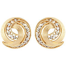 Buy Susan Caplan Vintage 1950s Trifari Gold Plated Clip-On Swirl Earrings Online at johnlewis.com