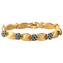 Buy Susan Caplan Vintage 1960s Trifari Gold Plated Swarovski Bracelet, Blue Online at johnlewis.com