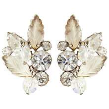 Buy Susan Caplan Vintage 1950s Kramer Clip-On Rhodium Plated Leaf Earrings Online at johnlewis.com