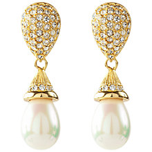 Buy Susan Caplan Vintage 1980s Christian Dior Pearl Drop Clip-On Earrings Online at johnlewis.com