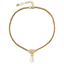 Buy Susan Caplan Vintage 1980s Christian Dior Gold Plated Faux Pearl Drop Pendant Necklace Online at johnlewis.com