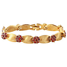 Buy Susan Caplan Vintage 1960s Trifari Gold Plated Swarovski Bracelet, Red Online at johnlewis.com