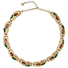 Buy Susan Caplan Vintage 1960s Trifari Gold Plated Topaz Necklace Online at johnlewis.com
