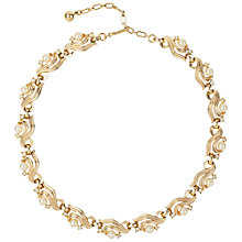 Buy Susan Caplan Vintage 1960s Trifari Gold Plated Faux Pearl Swarovski Crystal Deco Necklace Online at johnlewis.com
