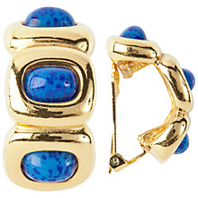 Buy Susan Caplan Vintage 1970s Grosse Gold Plated Cabochon Hoop Earrings, Blue Online at johnlewis.com