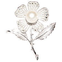 Buy Susan Caplan Vintage 1960s Sarah Coventry Silver Plated Faux Pearl Brooch Online at johnlewis.com