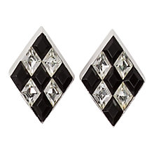 Buy Susan Caplan Vintage 1970s Trifari Silver Plated Swarovski Crystal Harlequin Clip-On Earrings Online at johnlewis.com