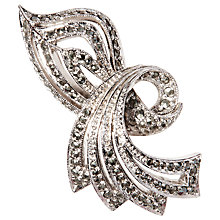 Buy Susan Caplan Vintage 1950s Sphinx Silver Plated Marcasite Brooch Online at johnlewis.com