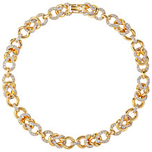 Buy Susan Caplan Vintage 1980s Nina Ricci Gold Plated Swarovski Crystal Link Necklace Online at johnlewis.com