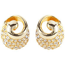 Buy Susan Caplan Vintage 1980s Ciro Gold Plated Swarovski Crystal Stud Earrings Online at johnlewis.com