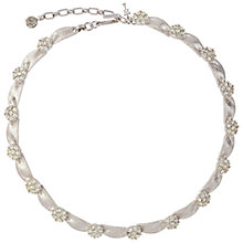 Buy Susan Caplan Vintage 1960s Trifari Silver Plated Swarovski Crystal Ribbon Necklace Online at johnlewis.com