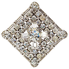 Buy Susan Caplan Vintage 1950s Kramer Silver Plated Swarovski Crystal Square Brooch Online at johnlewis.com