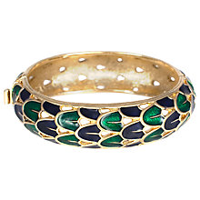 Buy Eclectica 1960s Gold Plated Enamel Bangle, Green Online at johnlewis.com