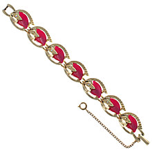 Buy Eclectica 1950s Gold Plated Rhinestone Bracelet, Pink Online at johnlewis.com