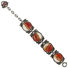 Buy Eclectica 1960s Silver Plated Celtic Bracelet, Orange Online at johnlewis.com