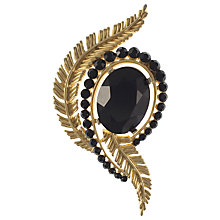 Buy Eclectica 1960s Trifari Gold Plated Abstract Feathers Glass Brooch Online at johnlewis.com