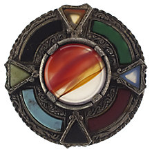 Buy Eclectica 1980s Miracle Silver Plated Faux Agate Stone Brooch, Multi Online at johnlewis.com