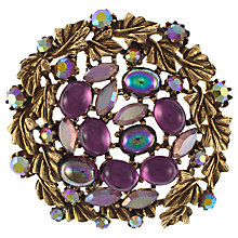 Buy Eclectica 1950s Gold Plated Cabochon Stone Brooch, Purple Online at johnlewis.com