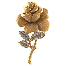 Buy Eclectica 1980s Attwood & Sawyer Gold Plated Rose Brooch Online at johnlewis.com