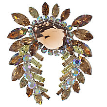 Buy Eclectica 1950s Chrome Plated Asssorted Rhinestone Brooch, Brown Online at johnlewis.com
