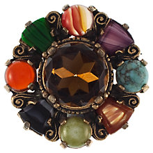 Buy Eclectica 1970s Miracle Assorted Glass Brooch, Multi Online at johnlewis.com