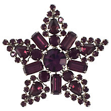Buy Eclectica 1960s Rhinestone Claw-Set Star Brooch, Purple Online at johnlewis.com