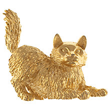 Buy Eclectica 1960s Trifari Gold Plated Cat Brooch Online at johnlewis.com