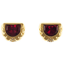 Buy Eclectica 1980s Gold Plated Red Glass Stone Clip-On Earrings Online at johnlewis.com