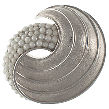 Buy Eclectica 1960s Trifari Chrome Plated Faux Pearl Textured Brooch Online at johnlewis.com