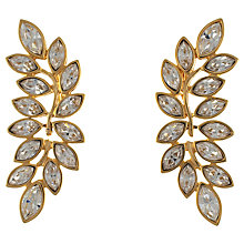 Buy Eclectica 1980s Kenneth Jay Lane Gold Plated Leaf Clip-On Earrings Online at johnlewis.com