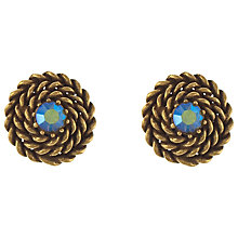 Buy Eclectica 1960s Gold Plated Twist Clip-On Earrings, Blue Online at johnlewis.com