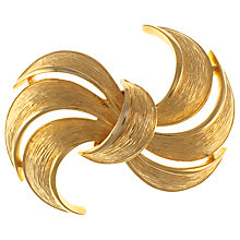 Buy Eclectica 1980s Givenchy Gold Plated Abstract Brooch Online at johnlewis.com
