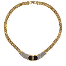 Buy Eclectica 1980s Swarovski Gold Plated Flat Curb Necklace Online at johnlewis.com