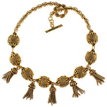 Buy Eclectica 1980s Gold Plated Tassel Necklace Online at johnlewis.com